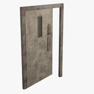 real metal secure door 3D model