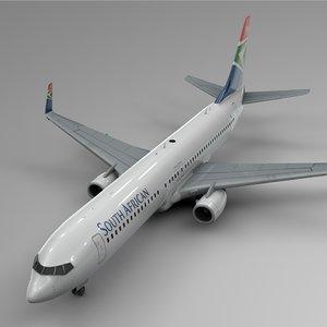 3D south african airways boeing
