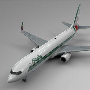 alitalia boeing 737-800 l408 3D model