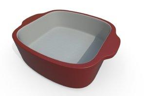dish baking 3D model