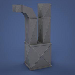 home furnace 3D model
