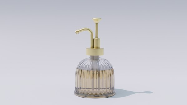 glass soap dispenser 3D model
