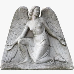 narrow angel statue 3D