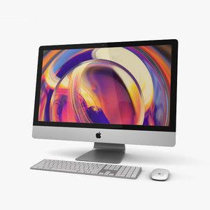 3D model apple imac 2019