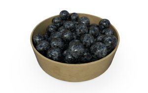 3D blue berries