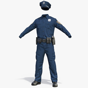 3D nypd police officer uniform