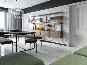 room interior environment 3D model