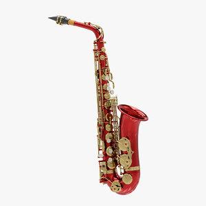 3D alto saxophone