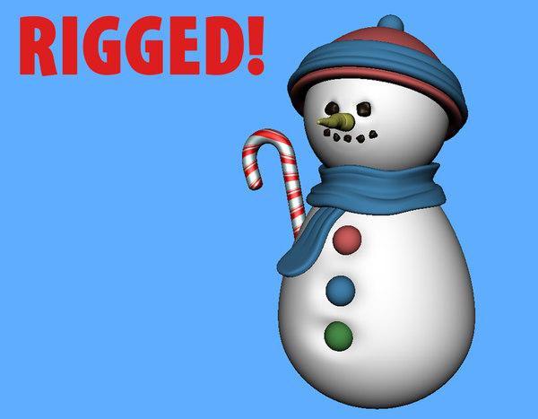 snowman prop 3D model