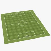 3D real soccer field pitch