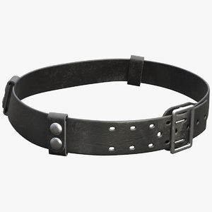 leather duty belt 3D