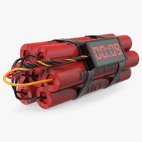 3D dynamite time bomb model