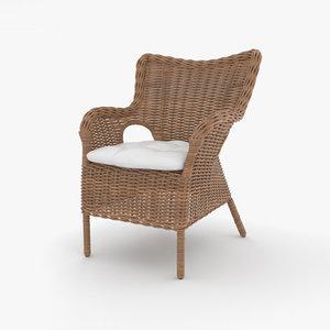 rattan chair model
