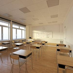3D model classroom class