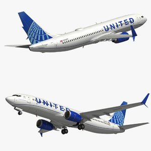 boeing united airlines 3D