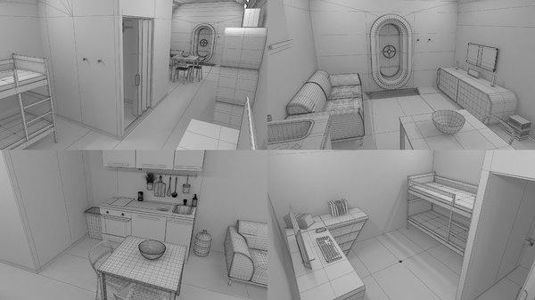 fallout bunker 3D model