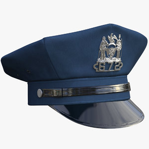 3D nypd police cap ny