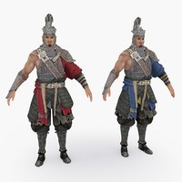 medieval china character 014 3D model