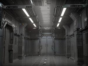 sci fi 3D model
