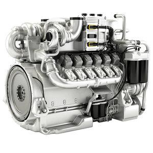 3D engine mtu m96 model