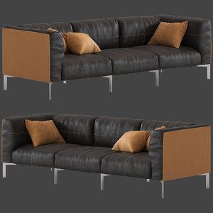 poltrona frau bosforo sofa 3D model