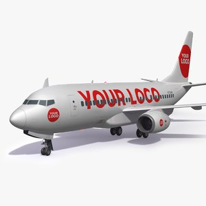 3D logo airplane aircraft custom
