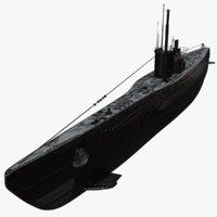 Uboat Submarine WWII Redshift
