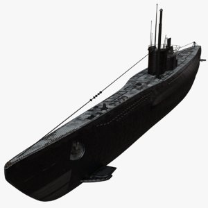 3D german uboat submarine redshift