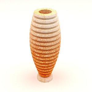 3D porcelain vase