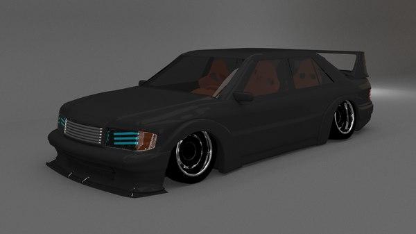 3D mercedes 190 model