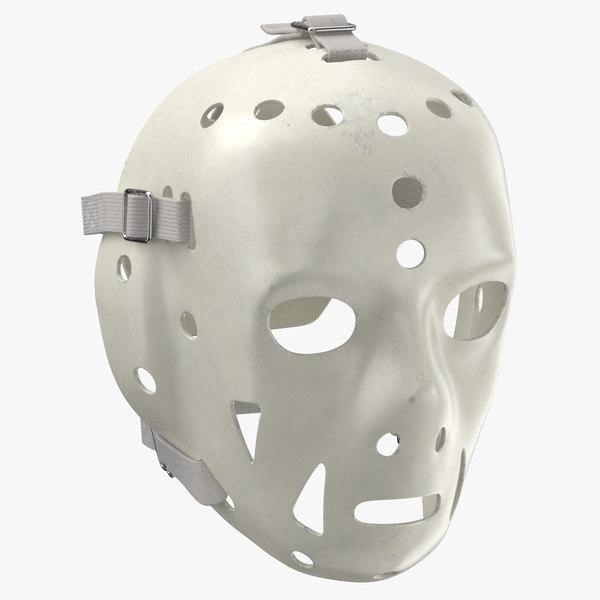 3D ice hockey goalie mask model