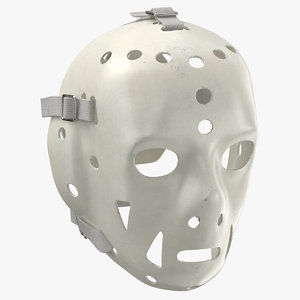 3D ice hockey goalie mask model
