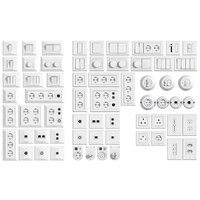 L3DV06G01 - electrical wall switches and sockets set