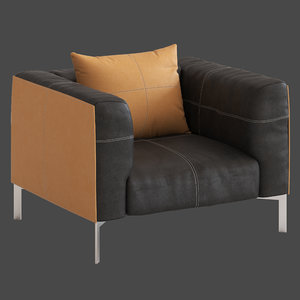 3D poltrona frau bosforo armchair model