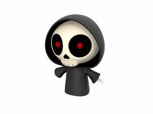 reaper character cartoon 3D model