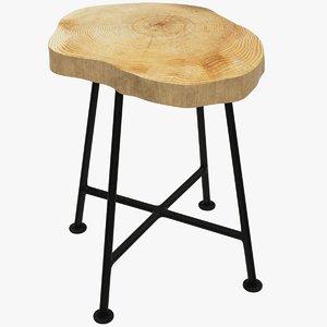 loft stool 3D model