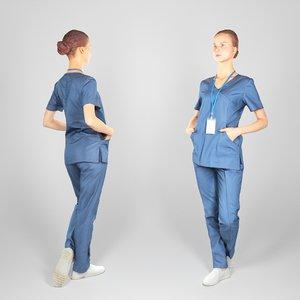 3D human surgical nurse model