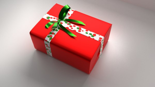 red gift box 11 3D model
