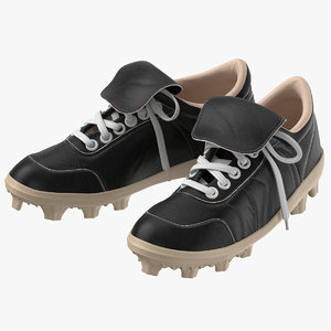 3D model baseball cleats pair 01
