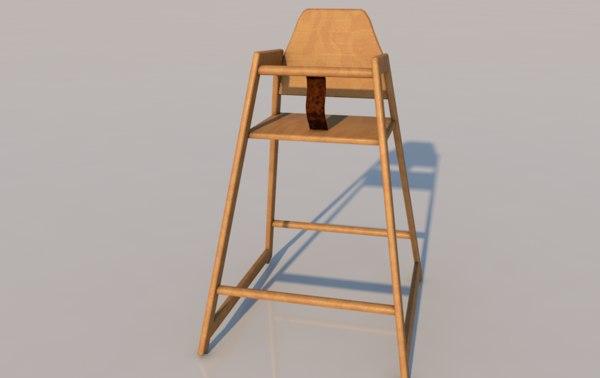 highchair chair seat 3D