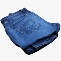 folded jeans 3D