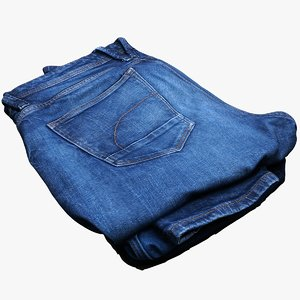 folded jeans 3D