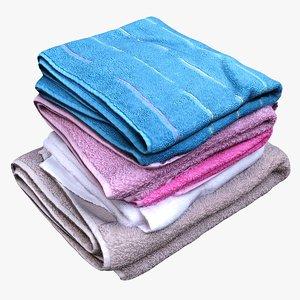 folded towels 3D model
