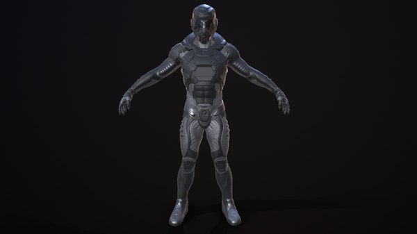3D model sci-fi caracter