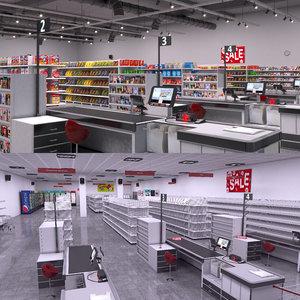 3D supermarket 2 model
