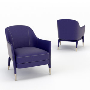 3D architectural visualization armchair gio