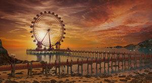 ferris wheel dock 3D