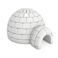 Igloo icehouse, Snowhouse or snowhut.