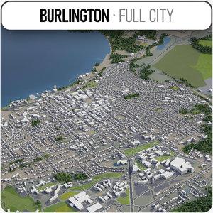 3D model burlington surrounding -