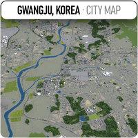 3D gwangju surrounding - model